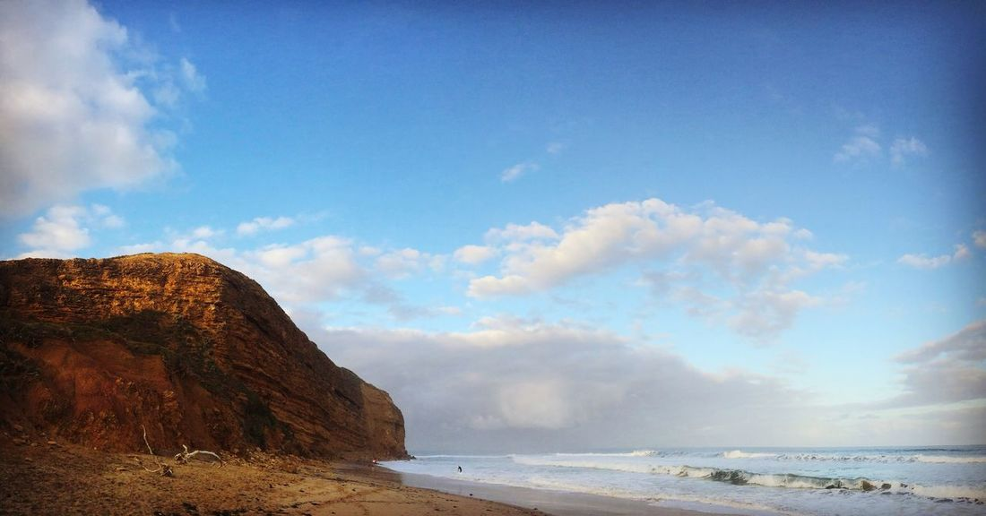 Red Cliffs, Blue Sky Beauty In Nature Water Beach No People Cliff Bells Beach Australia The Week On EyeEm No People, Red Cliffs