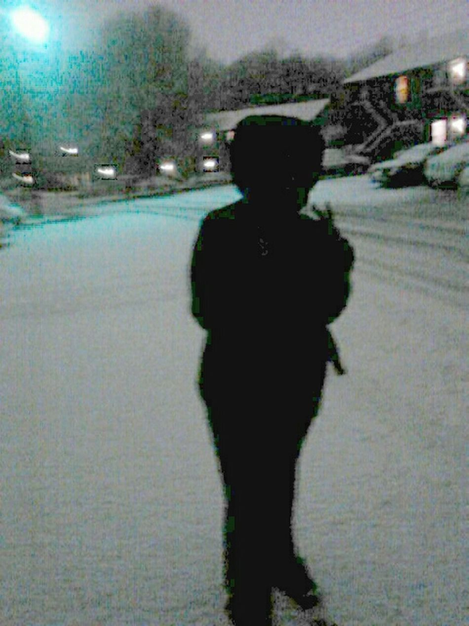 snowball fight with bro