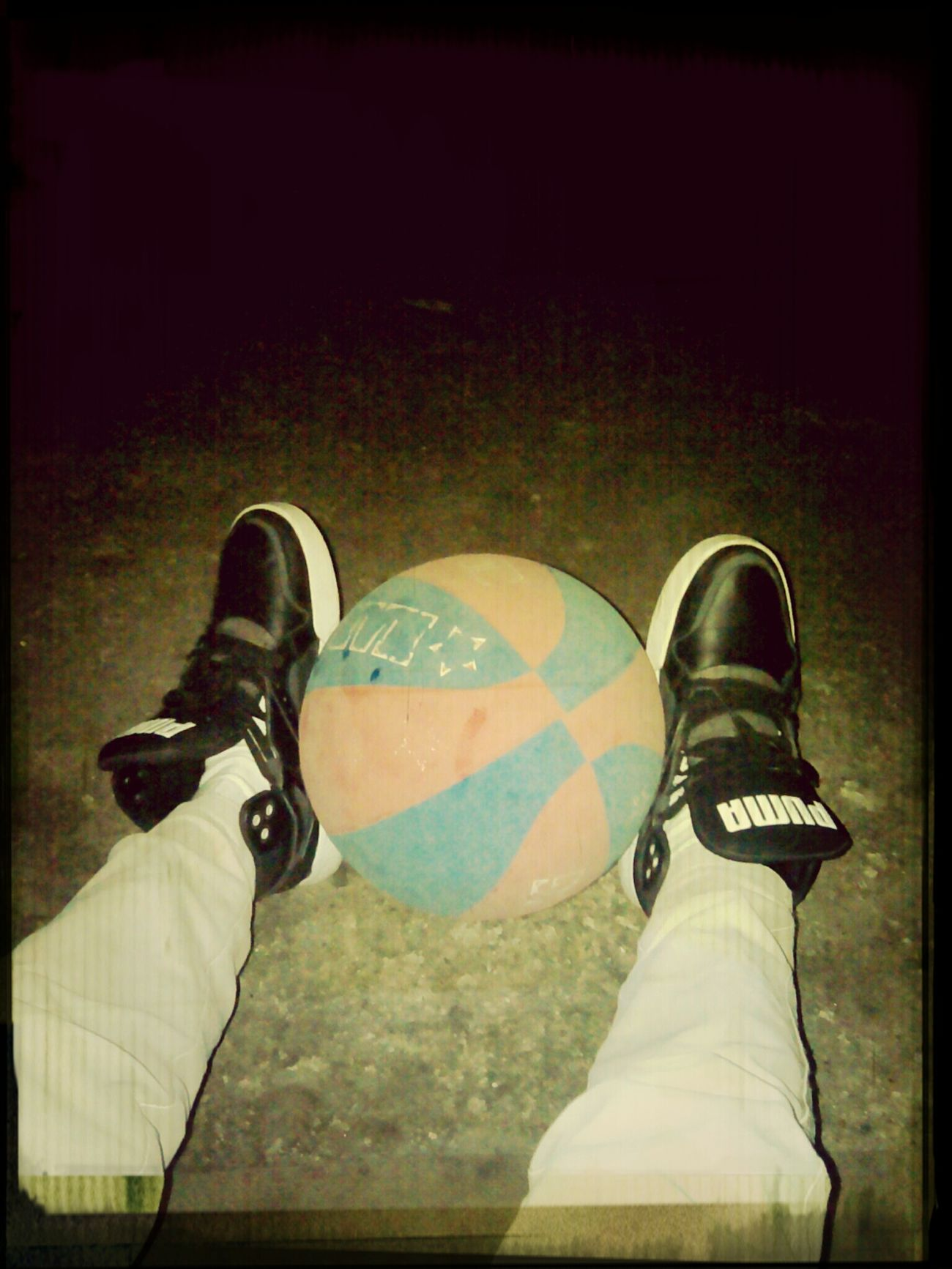 From My Point Of View . Playing basketball at night. Gives me the greatest feeling of not being alone.