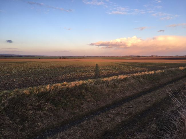 Landscape Sky Shadow MeMyself&I Running Sundown
