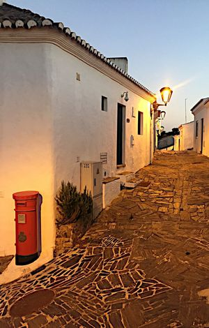 Architecture Building Exterior No People Tranquil Scene Evening Cobblestone Red Post Box