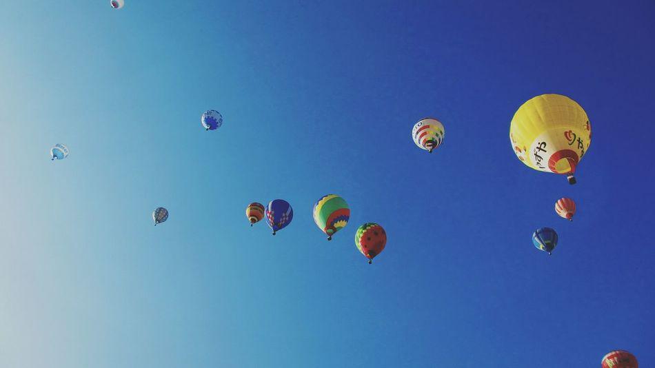 Keicomoment Landscape beautiful balloons in Autumn Sky