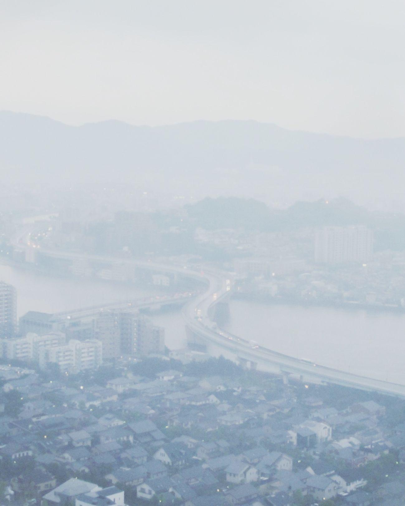 A rainy day from Fukuoka Tower Fukuoka Fukuoka Tower First Eyeem Photo River View River Bridge Bridge View Romance Nostalgia
