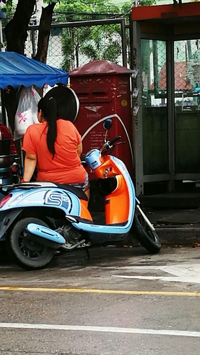 Thailand_allshots The OO Mission Thailand Thai Food Thai Girl Thaistyle Motorcycle Motorbike Bangchalong Samut Prakan Woman Obesity Obese Woman