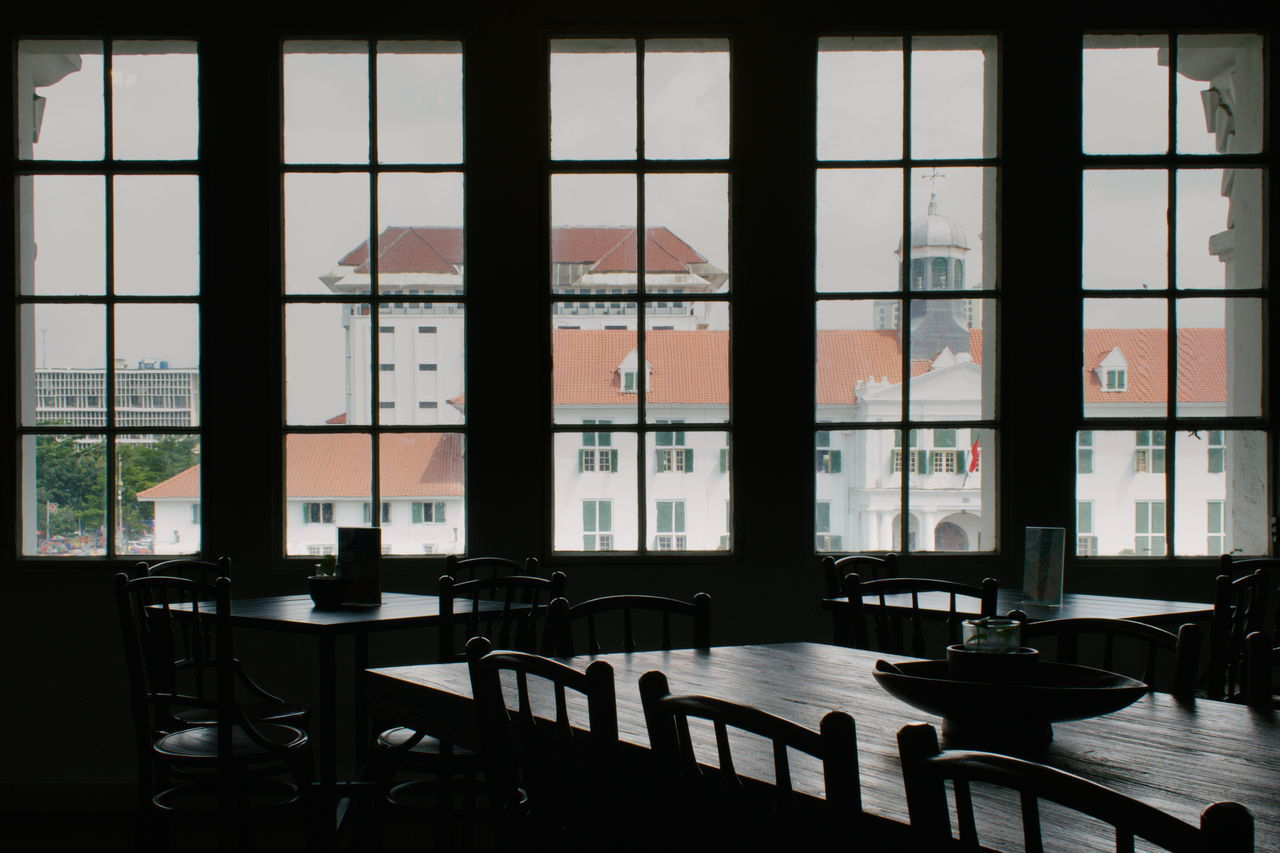 Architecture Cafe Chair Day Dining Table Dutch Architecture Historic History Indoors  No People Oldschool Restaurant Table Vintage Window