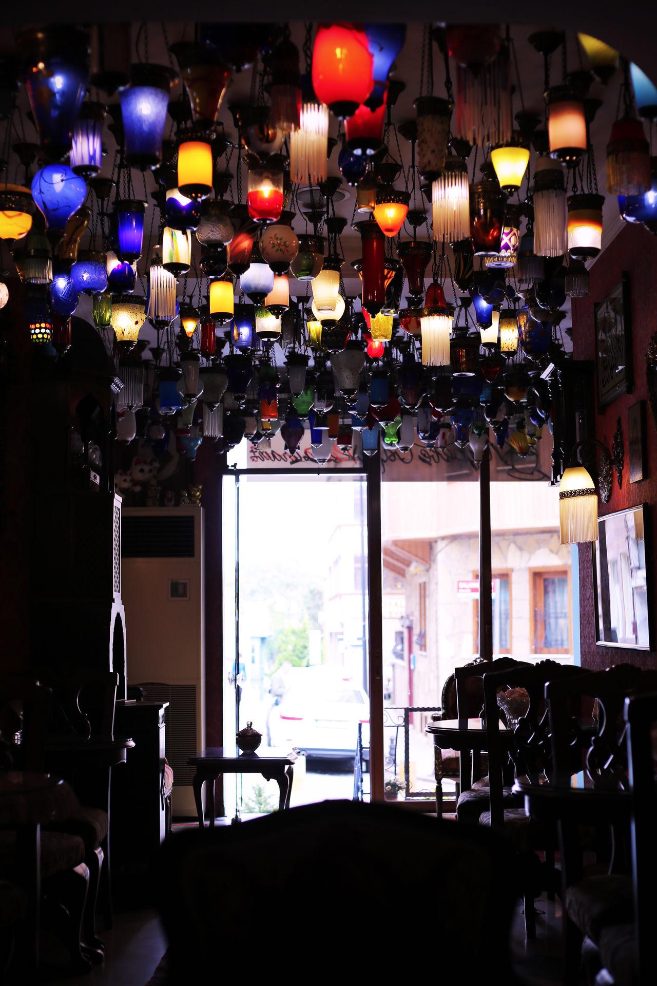 2015  Cafe Colorful Interior Interior Design Istanbul Kybele Hotel Lamp Lamp Hotel Restaurant Table Turkey Türkiye イスタンブール キベルホテル トルコ ランプ ランプのホテル