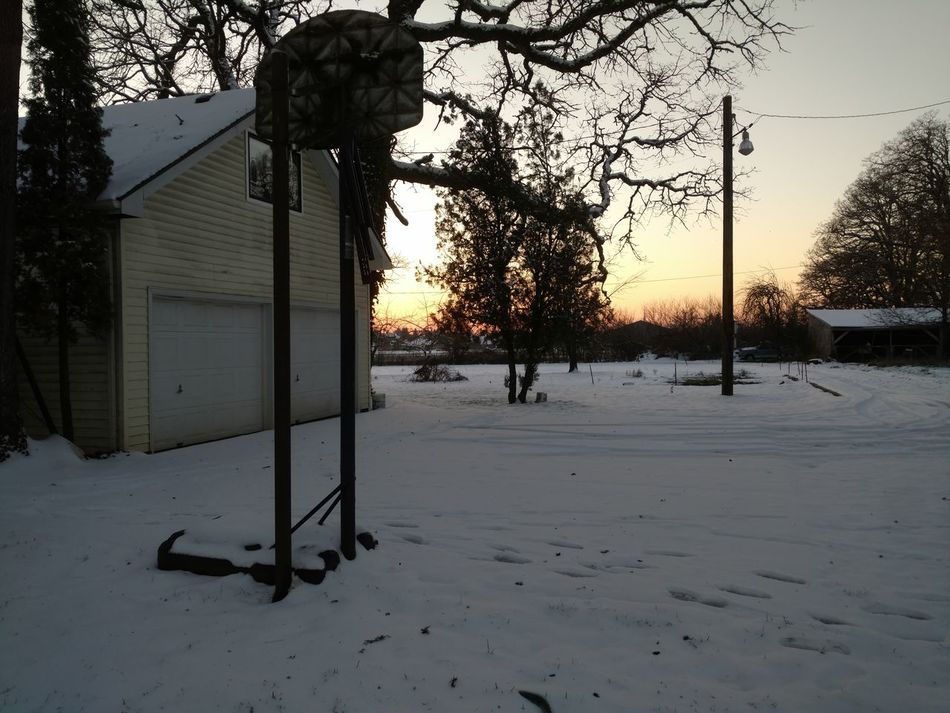 Finding New Frontiers bulliet instead? Winter Snow Cold Temperature Basketball Sunset No People Hoops No bourbon whiskey