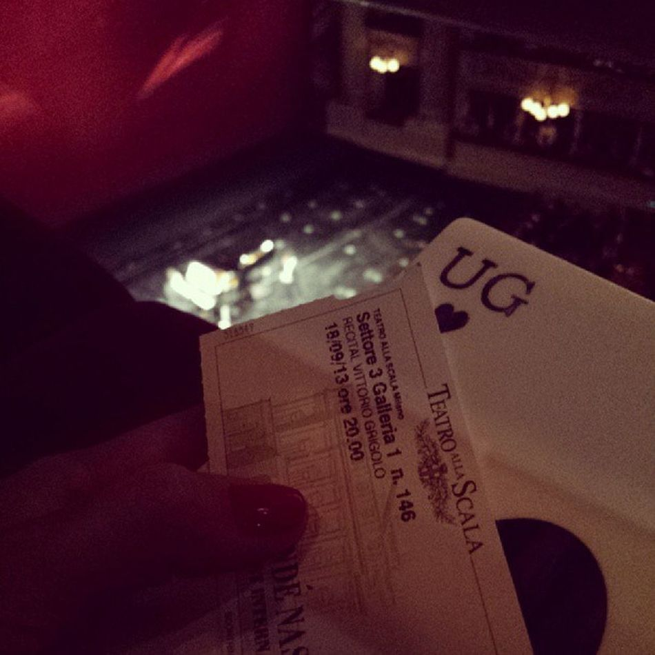 Such an amazing experience..! Teatro alla Scala Milano. Conde Nast invitation for Vogue Talents! Amazing! Nowords Opéra Scalamilano