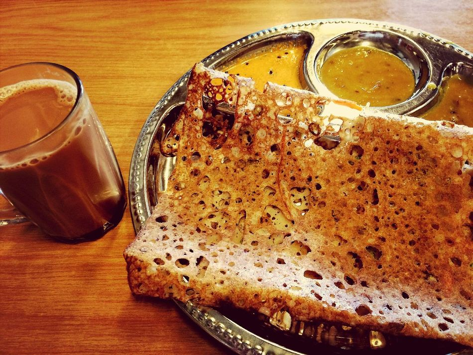 MasalaTea and Rawa Dosai for bfast ?