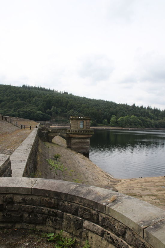 Dam Wall Derbyshire Ladybower Reservoir Overflow Architecture Beauty In Nature Built Structure Day England Nature No People Outdoors Peak District  Scenics Sky Tree Water