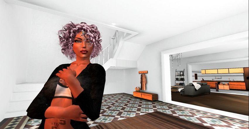 Bright Room Digital Art Indoors  London SL Secondlife Secondlifeavatar Sporty Fashion Sportygirl White Room Yoga Fashion Young Woman