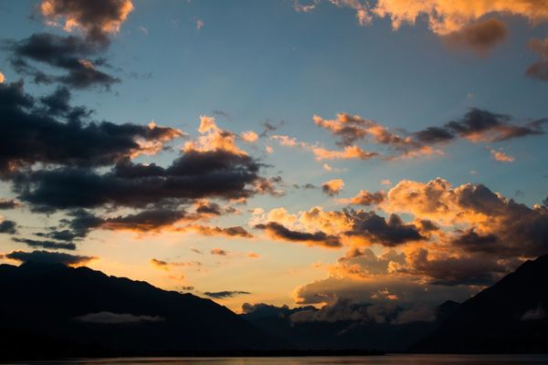 Switzerland Sunset Sky Beauty In Nature Nature Scenics Cloud - Sky Silhouette Tranquil Scene No People Tranquility Outdoors Landscape Mountain Dramatic Day