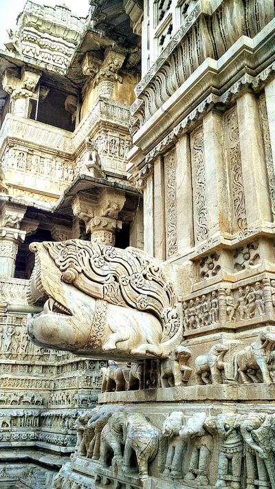 Udaipur. India Jagdish Temple Architecture Historical Monuments Indian Art Form