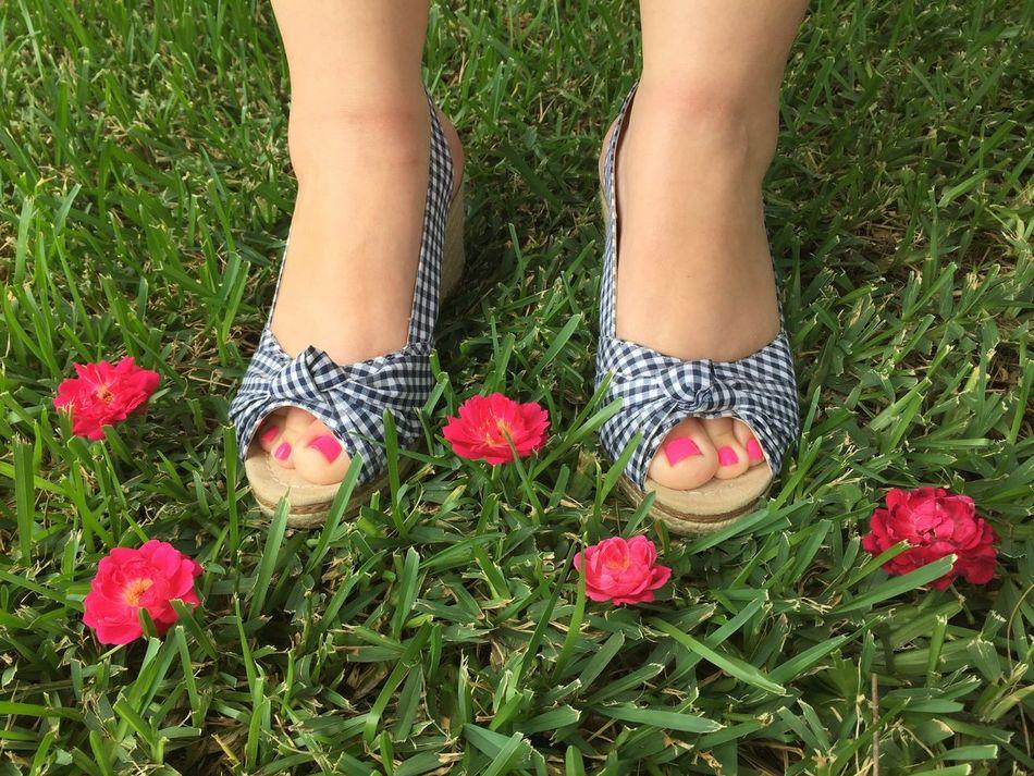 Summer wedges Shoes Wedges Heels Summer Pink Pink Flower Pink Toes! Pink Color Toes Toes Feet