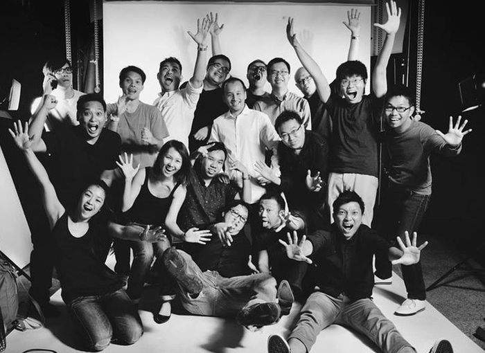 What happens when photographers have a photoshoot? We have fun! The talented team of Wedding Photographers Network (WPN) Singapore! Having Fun Blackandwhite Black And White WPNSG