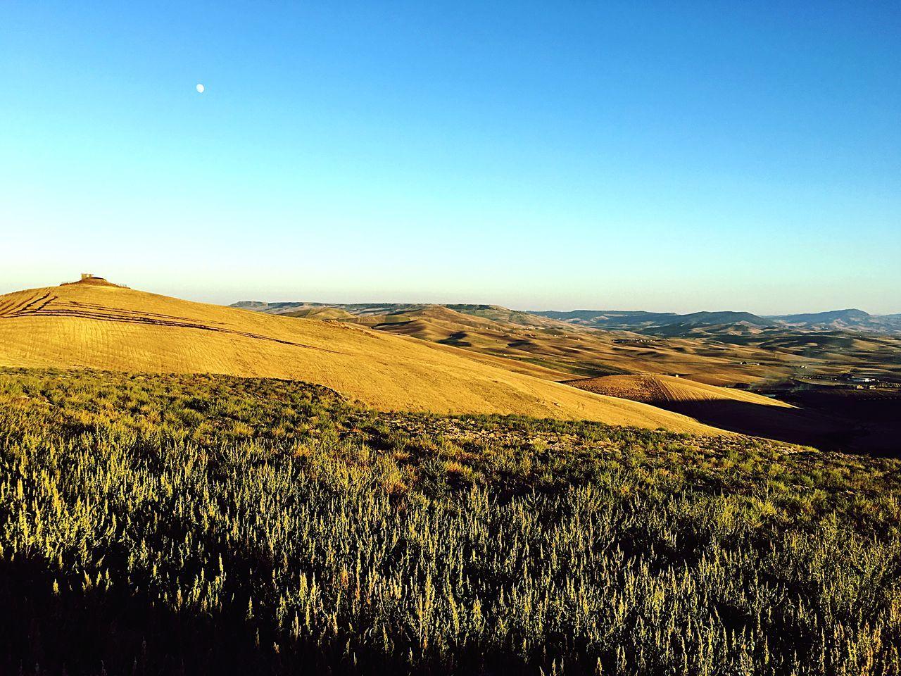 Italy Southitaly Basilicata Countryside Landscape Scenics Moon Sunset