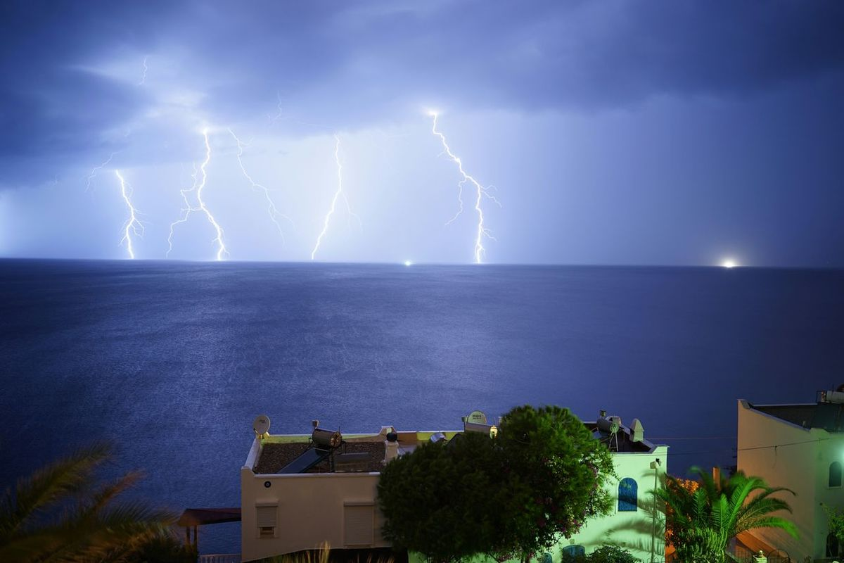 Lightning Thunderstorm Amazing The Great Outdoors - 2016 EyeEm Awards Yalıkavak Bodrum Electric Storm