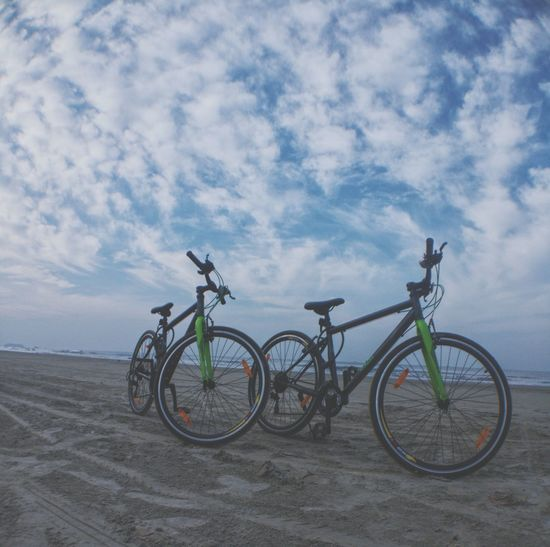 Cycling life ....Bicycle Sky Fitness Time Sea And Sky first eyeem photo Be. Ready.