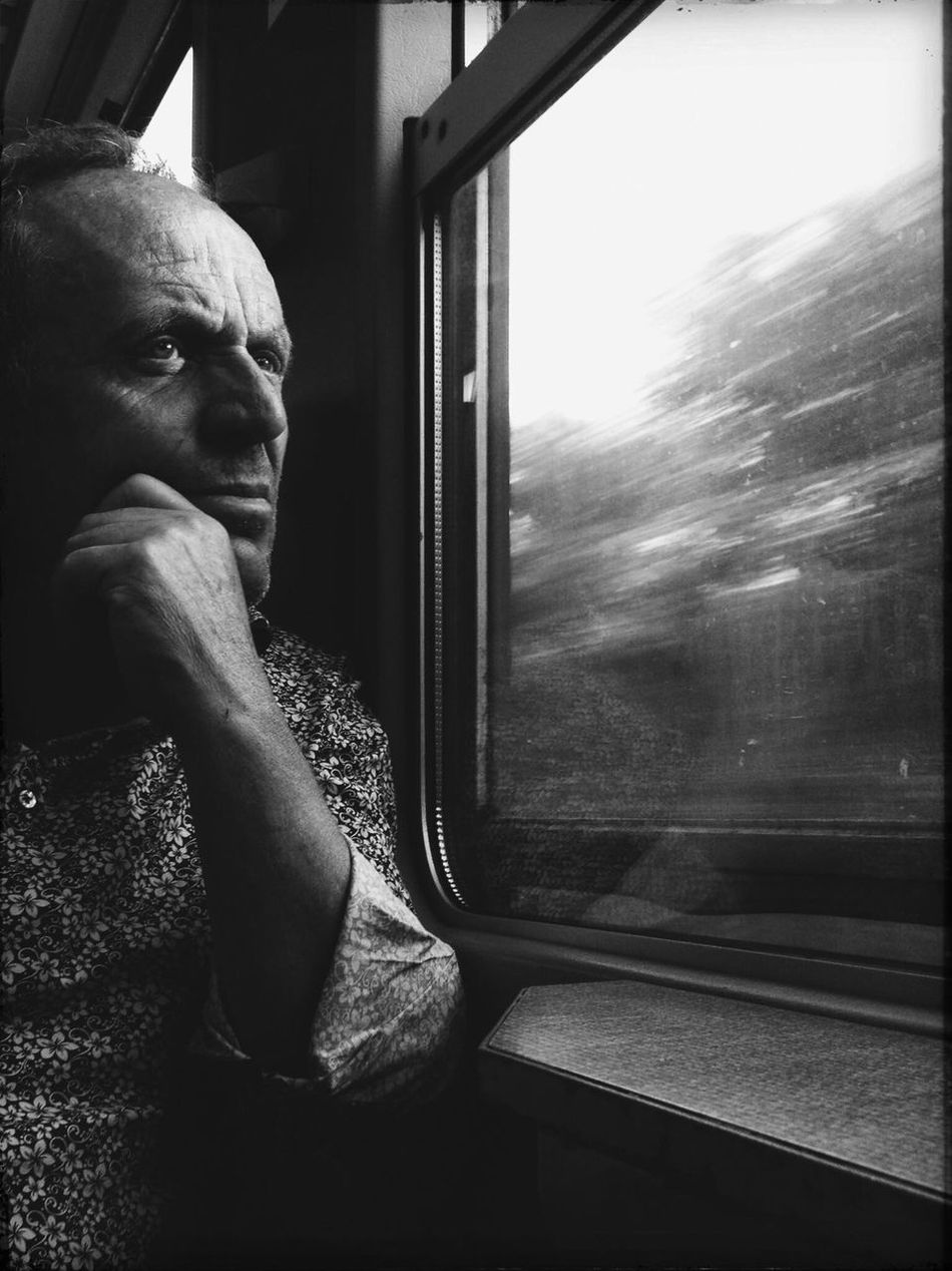 .portrait of a ordinary man. | Window Contemplation One Person Vehicle Interior Day Dreaming Close-up One Man Only Real People Streetphoto City EyeEm Street Streetphotography Street Photography Hello World Great Atmosphere EyeEm Best Edits Blackandwhite Bws_worldwide Bw_collection EyeEm Bnw Monochrome Photography Photography Eye4photography  Street Life