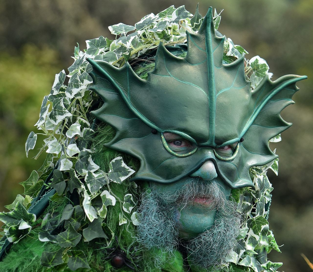 Jack In The Green Jack In The Green Festival Hastings May Day 2017 East Sussex Green Green Man Mask Beard May Day Face Make Up One Man Only Portrait Green Face Close-up Pagan Outdoors May Festival Nature Festival Bearded Man Parade Celebration Costume Life