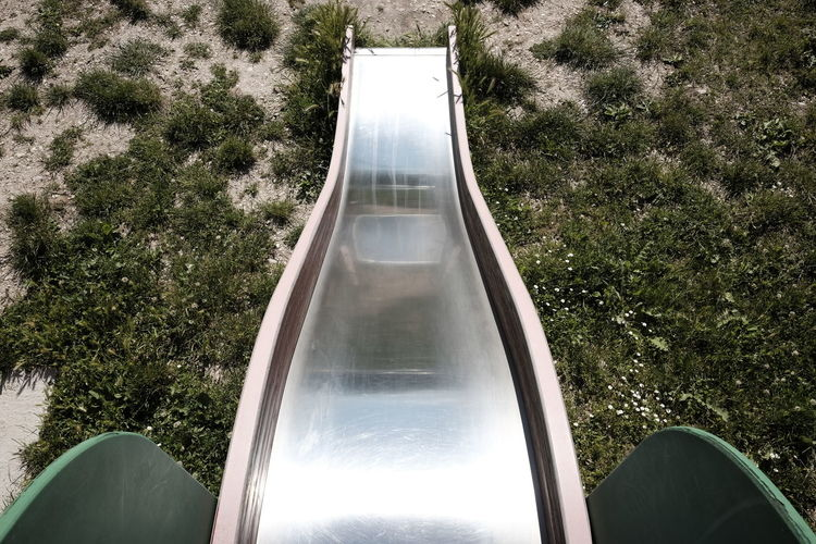 Children's Slide Day Elevated Game High Angle View Nature No People Outdoors Park Play Recreation  Symbol