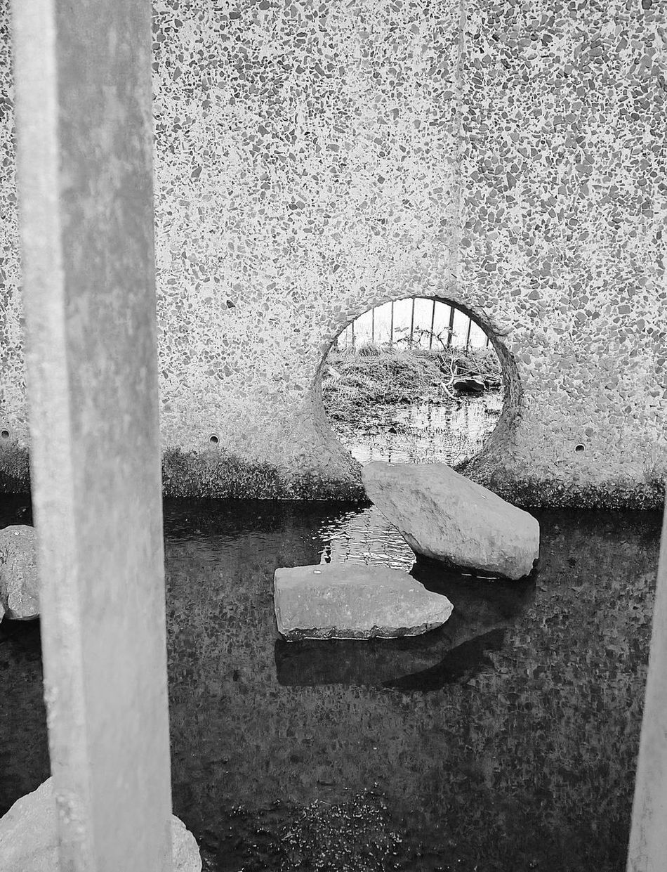 concrete zen Architecture Blackandwhite Built Structure Close-up Concrete Concrete Jungle Concrete Wall Day Drains Nature Nature No People Outdoors Reflection Secret Places Shapes Texture Water Weir