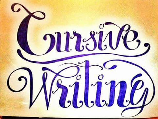 Cursive Writing Penmanship Calligraphy Inspired By Art ArtInMyLife ArtWork Art, Drawing, Creativity Lettering