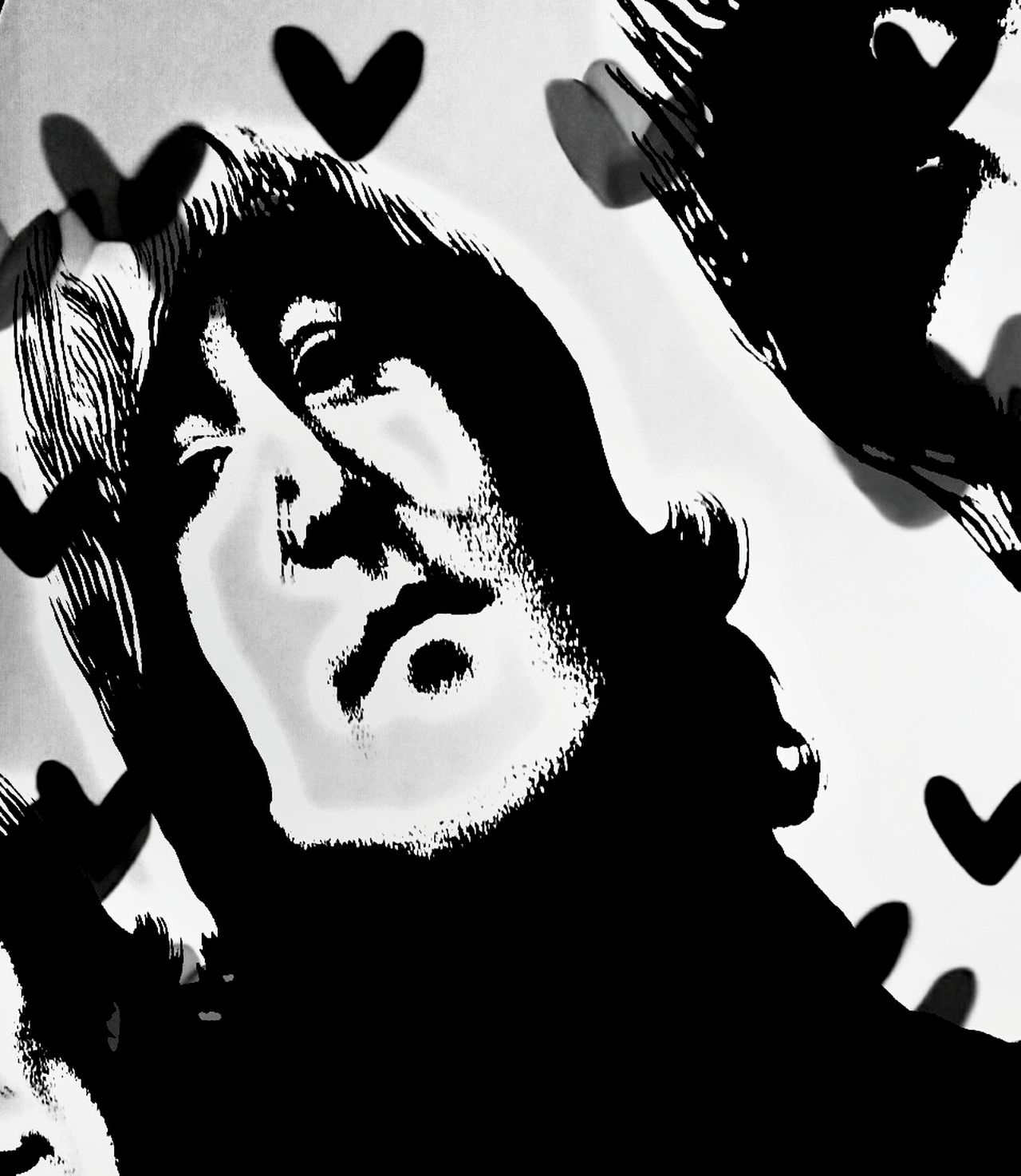 Lennonlovers Thebeatles Johnpaulgeorgeringo Beatles4ever Rock Thebeatles Musiclover Black & White Johnlennonvibes