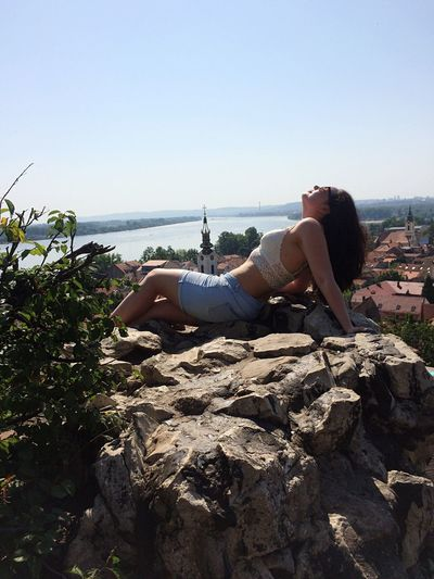 Serbia Semun Belgrade,Serbia Belgrade Biograd One Person Young Women Day Relaxation Clear Sky Real People