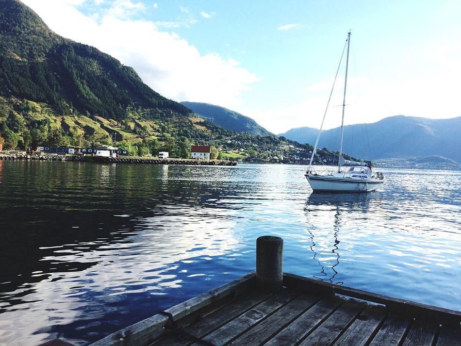 Rosendal - Bergen 2015 Norway Rosendal Harbour Sea Boat