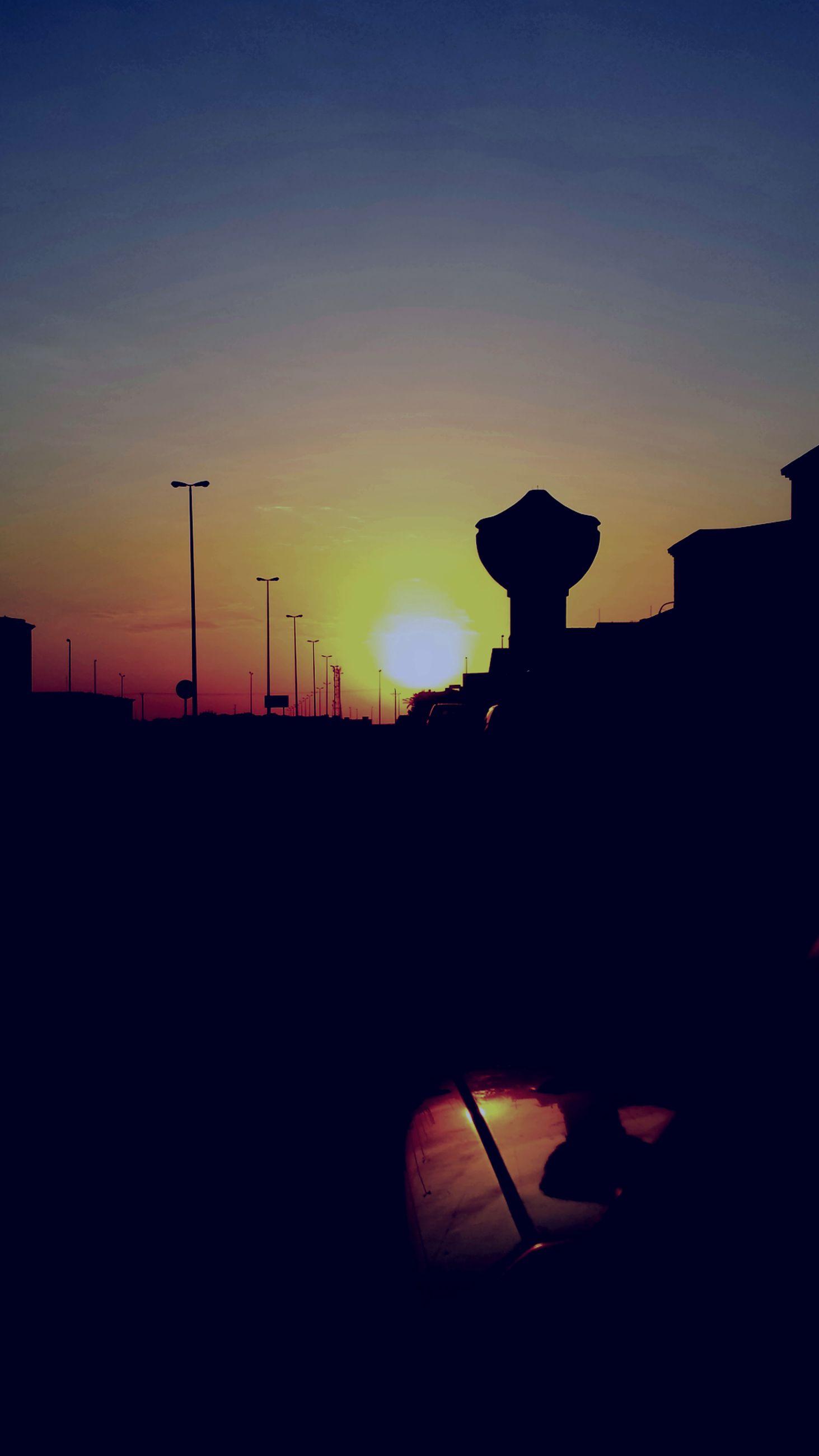 silhouette, sunset, orange color, sky, copy space, outline, unrecognizable person, men, sun, dark, dusk, clear sky, lifestyles, back lit, leisure activity, nature, beauty in nature, outdoors
