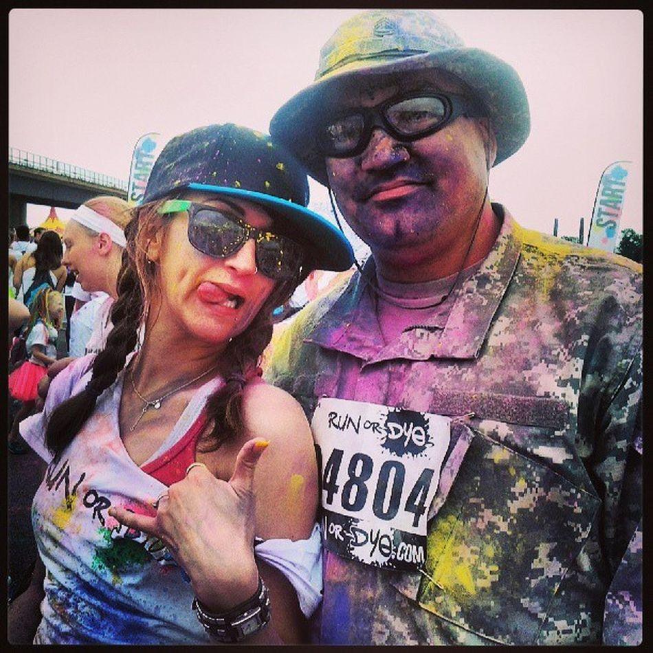 The best of times with my Bff at RunOrDye Runordye2013 in WashingtonDC