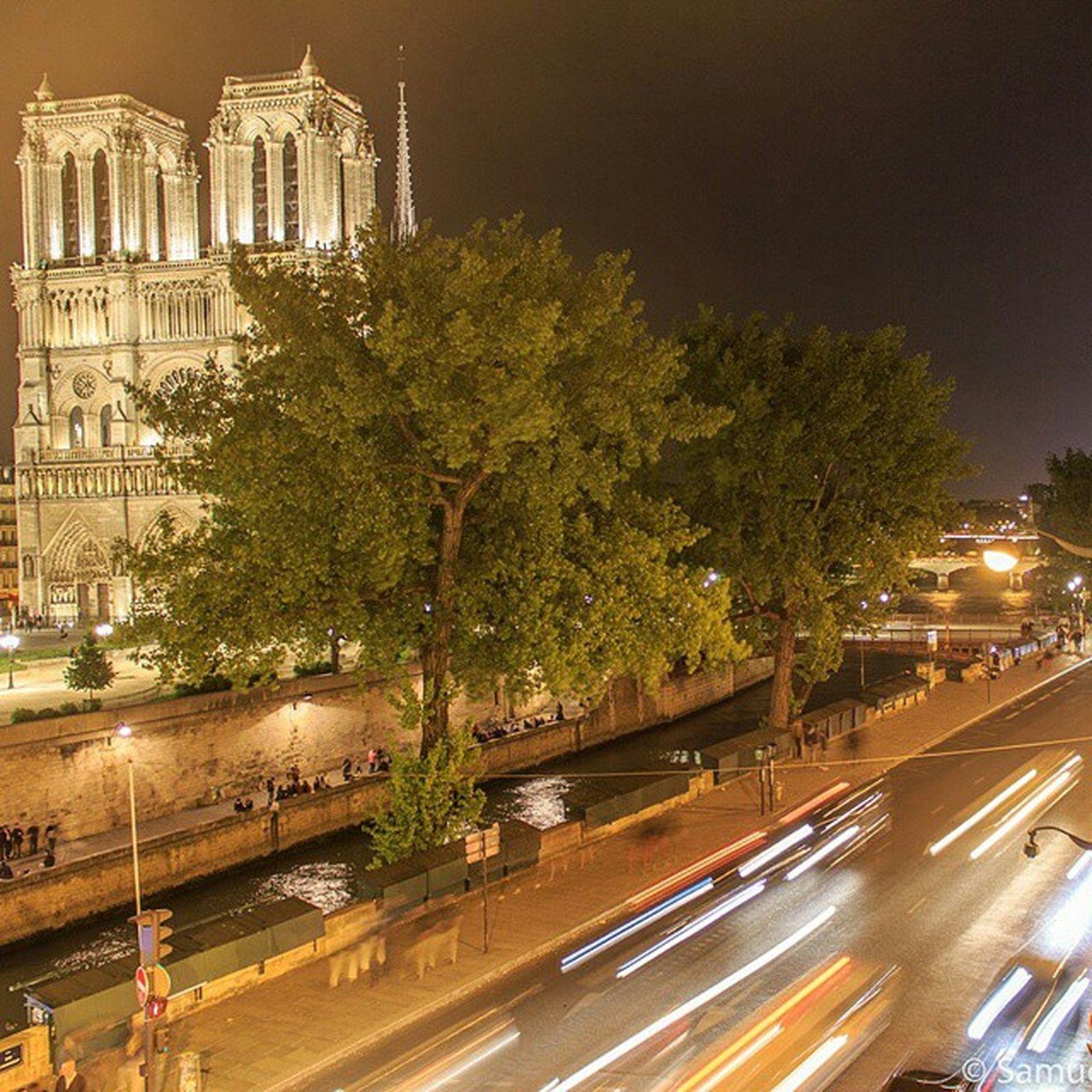 Parisholiday Paris France Notredame night wonderful_places