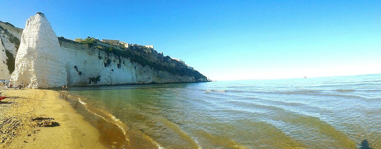 Spiaggia di Pizzomannu a Vieste, Gargano - Puglia, Italia Sea Water Clear Sky Beach Horizon Over Water Tourism Seascape Coastline Vieste Vieste Puglia Vieste Gargano Puglia Puglia Gargano Pizzomannu