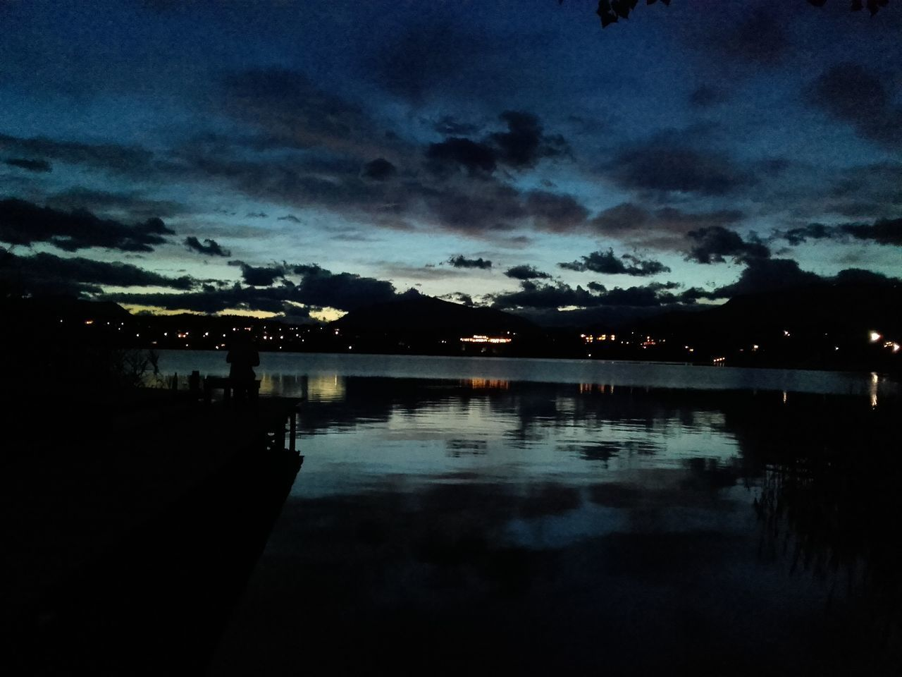 Architecture Beauty In Nature Carinthia Carinthian Lakes Cloud - Sky FaakAmSee Faakersee Illuminated Lake Nature Night No People Outdoors Reflection Scenics Silhouette Sky Sunset Tranquil Scene Tranquility Villach Water