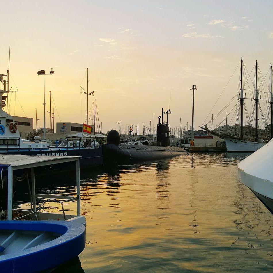 Uboat Transportation No People Submarine Sunset Harbor Sea Mode Of Transport Water Tranquility