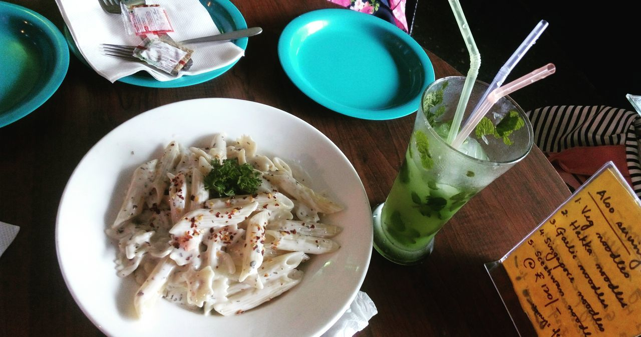 live laugh and eat and click :) Bliss Close-up Drink Food Food And Drink Fooood Freshness Mojito! Pasta Time Ready-to-eat White Sauce