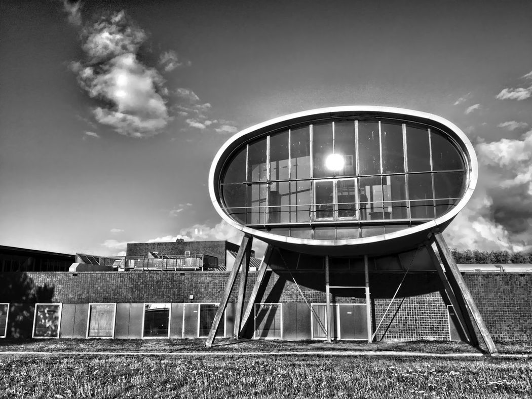 Cool building Architecture Blackandwhite Building Day Geometry HDR Holland Illuminated Interesting Building Lelystad Lelystad, The Netherlands No People Outdoors Sky Sun Urban