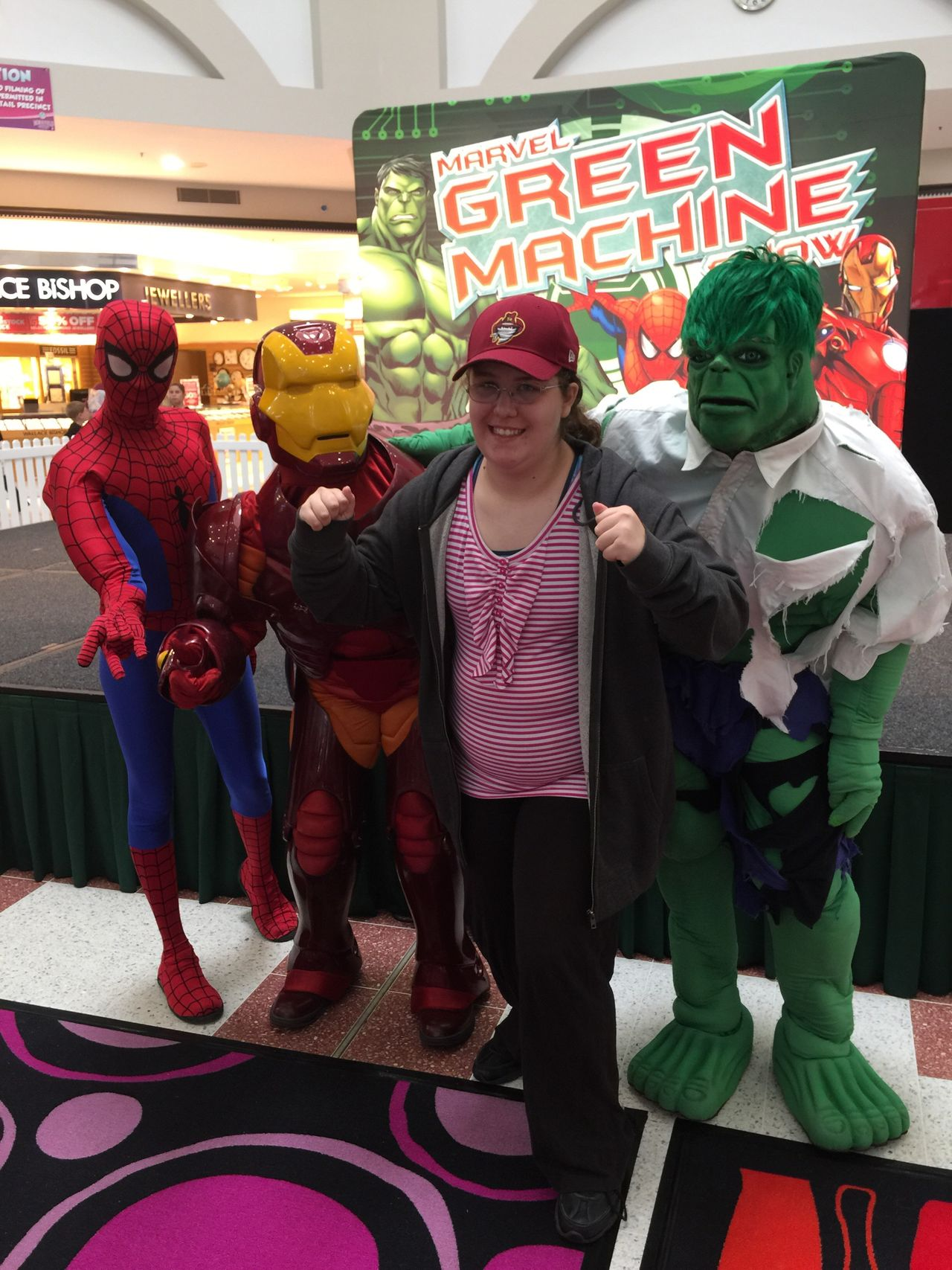 Meeting superheroes and grabbing an awesome photo with Julia!!