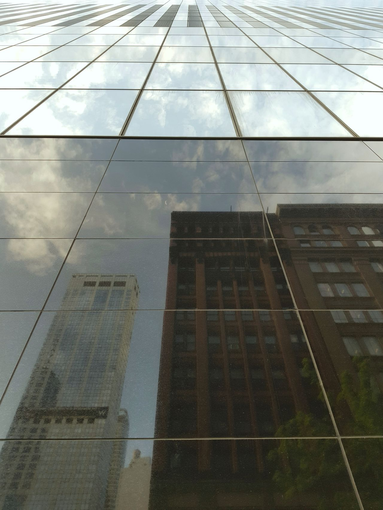 Built Structure Window Building Exterior Architecture Sky No People City Architecture Metro City New York New York City My Point Of View My Phone Camera Cloud - Sky Mirrored Image Mirroring Mirroreffect Mirrorimage Mirrorshot Mirrored Reflection Reflection Photography Refelections Refelction