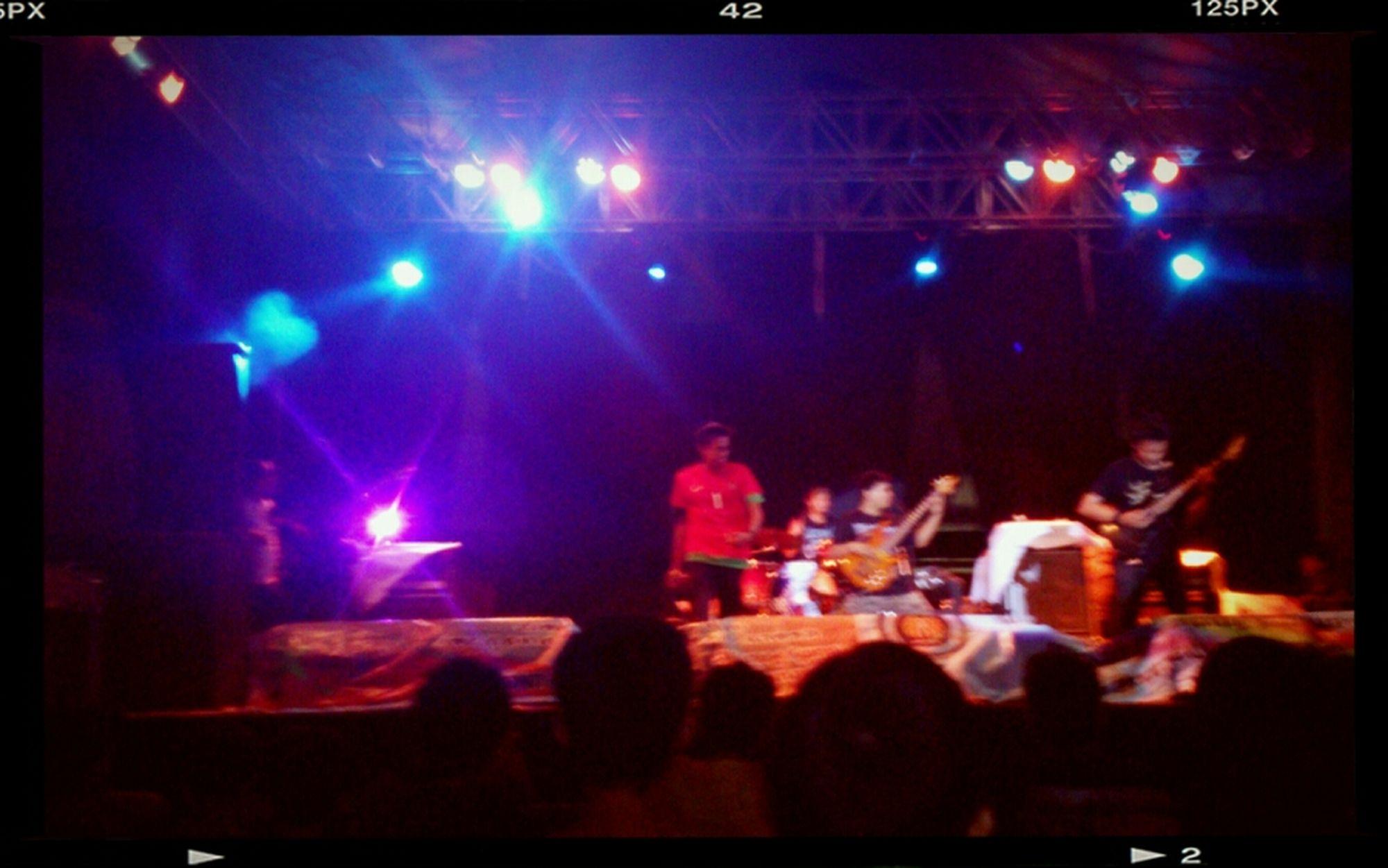 Watching A Performance Metal Surabaya Stage Life Metalheads Humanure Death Metal
