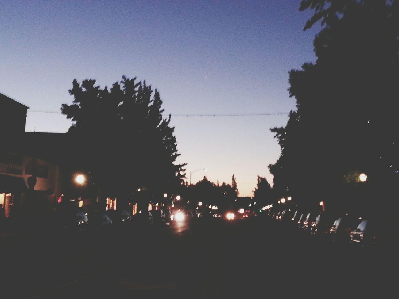 Town Mount Shasta Before Sundown