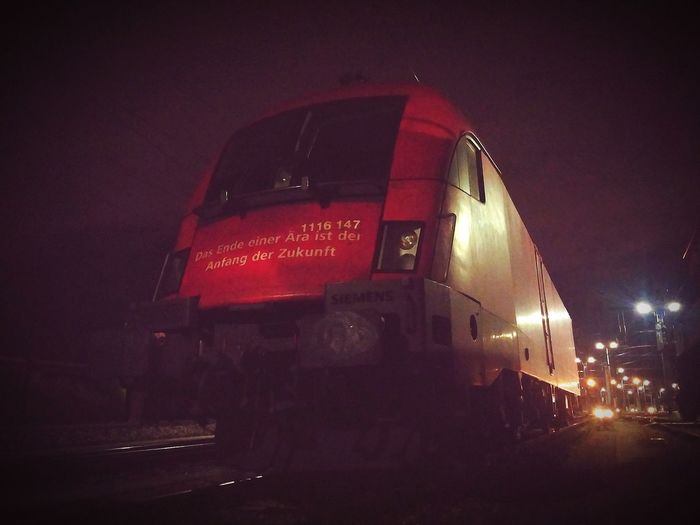 Work at night Train Engine Rail Night Nightshift Work öbb Power