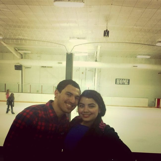 Ice skating with my love! <3 Our Love Story <3 06/08/12