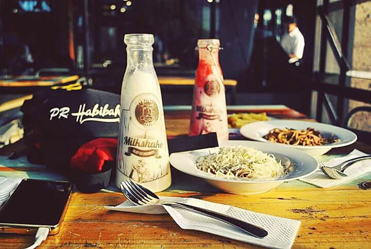 Food And Drink Milkshake♥ Spagetti Time Milkcafe Indonesia_photography Indonesiafood