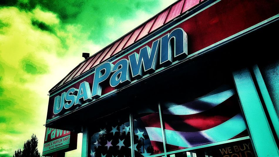 Open Edit Usa Pawn Pawn Shop Store Storefront Storefront View Pawn Shop Exterior Building Shop Sign Store Sign Colorful Sky Colors Green Sky Check This Out No People Places Things I Like Taking Photos Best Of EyeEm EyeEm Best Edits Green Sky Showcase July EyeEm Gallery