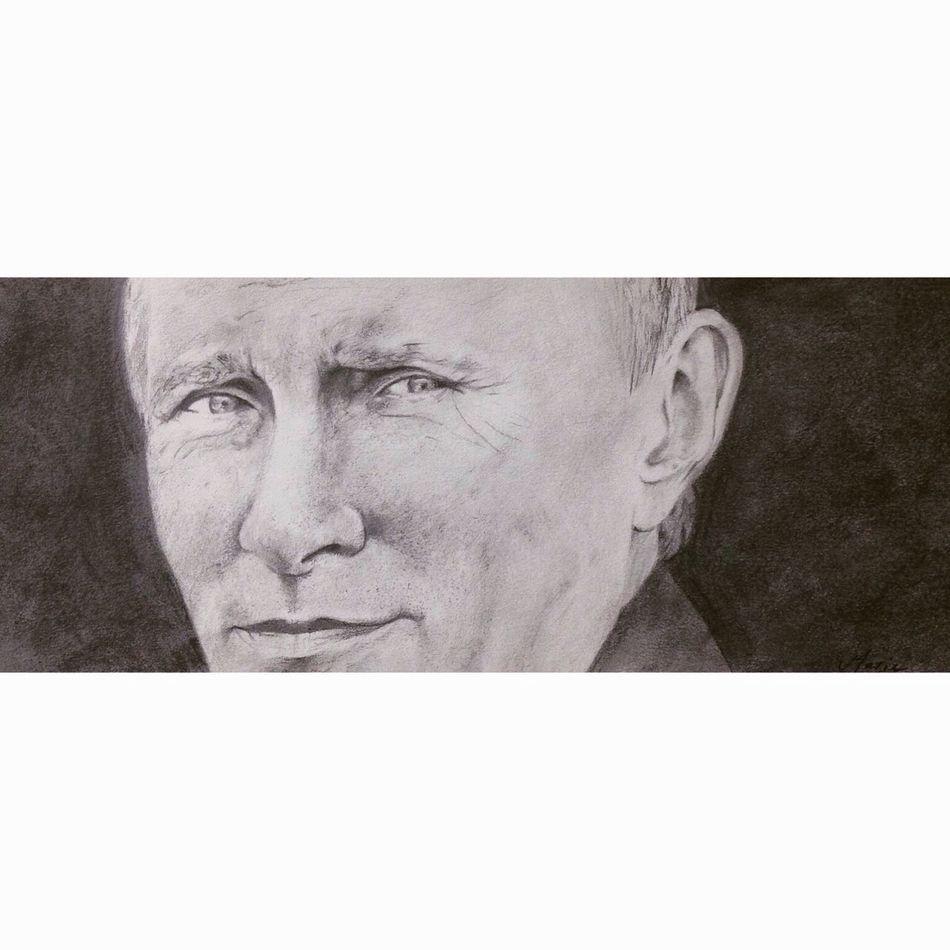 Drawing Dessin MyArt путин Putin Black And White