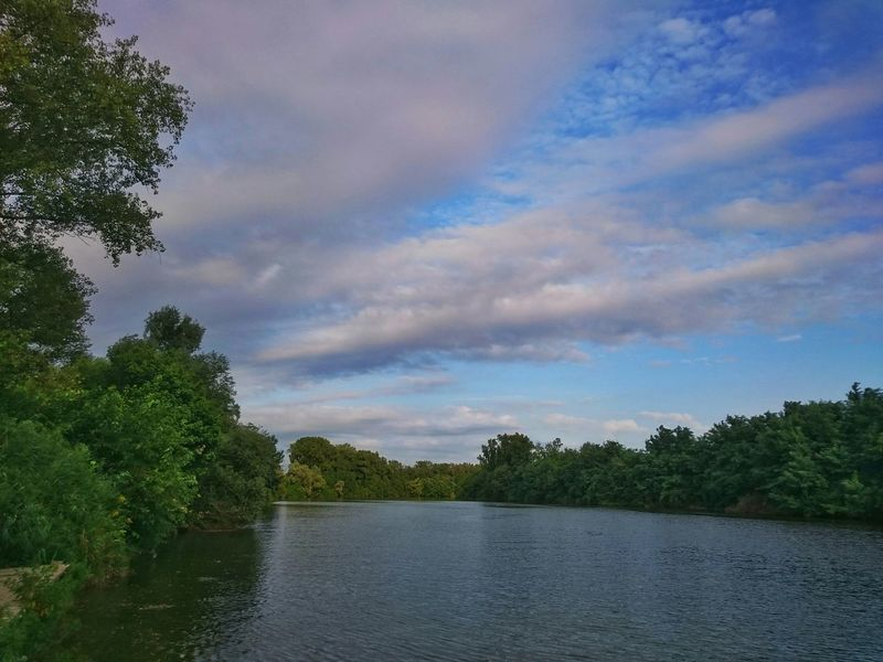 River Piave Fiume Piave Clouds Sunset Landscape Water Italy