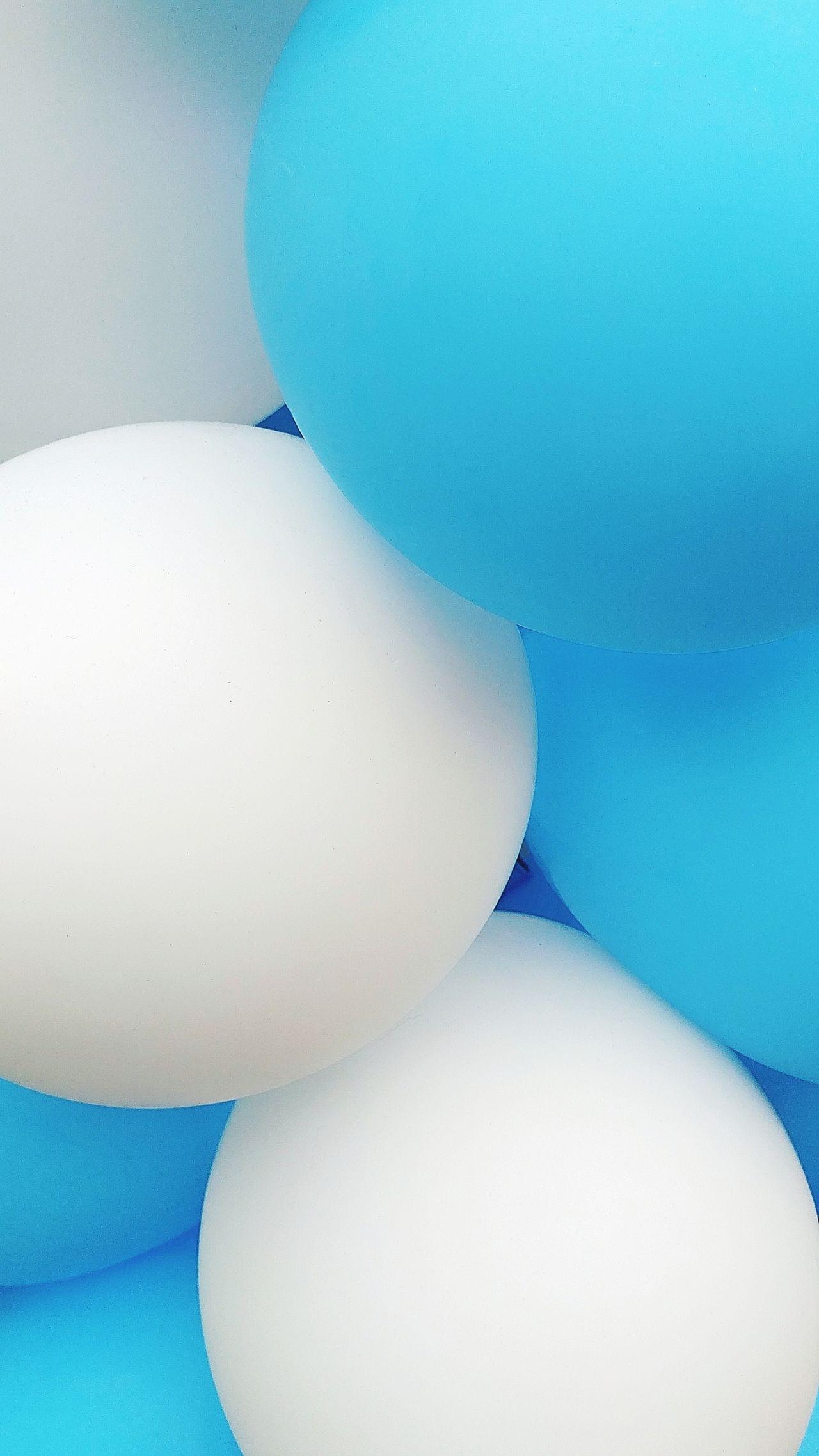 Blue Balloons Balloon Party Balloon Blue White Bubbles Bubble