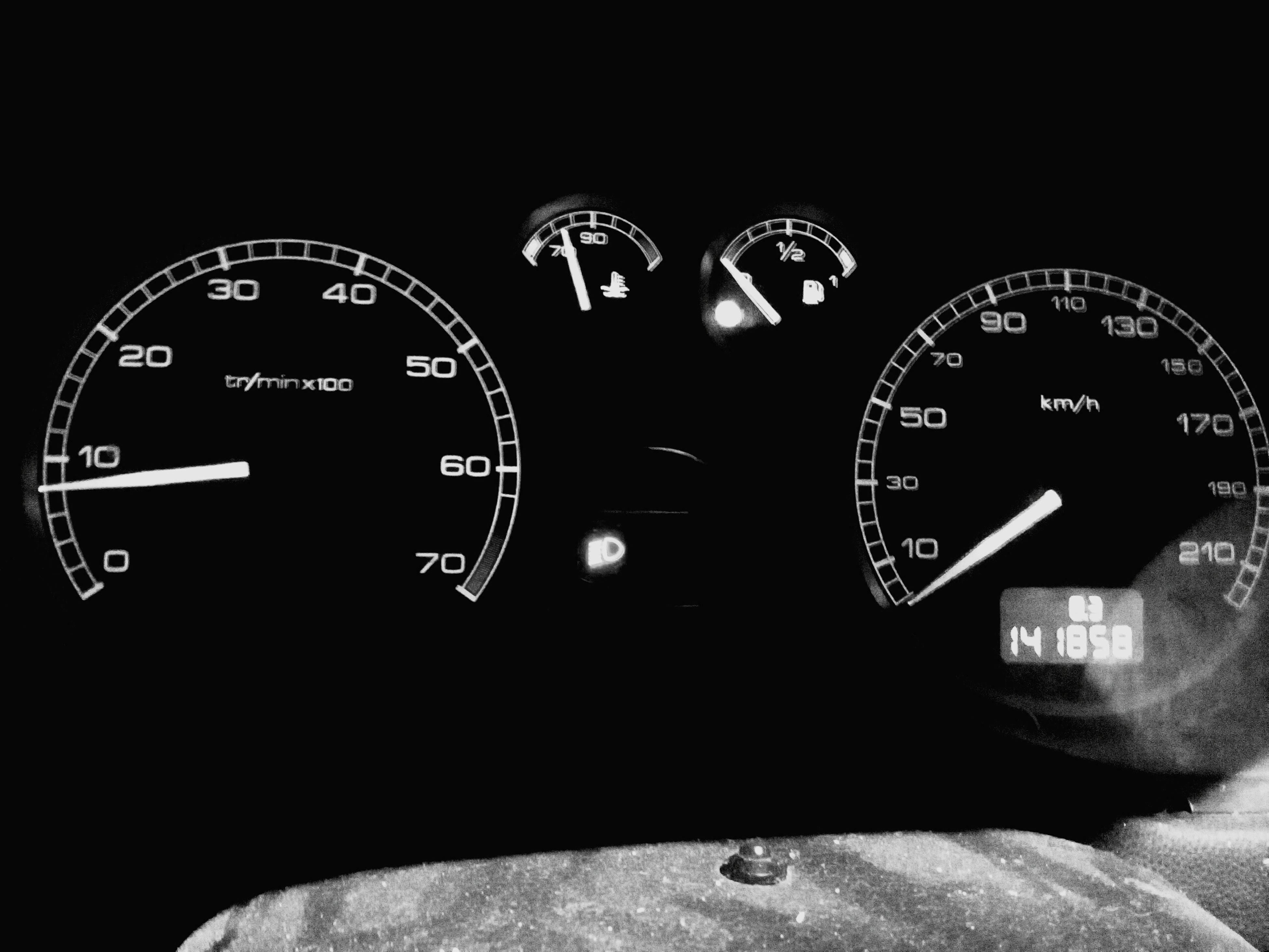 transportation, communication, number, text, clock, technology, speedometer, mode of transport, close-up, time, western script, land vehicle, car, indoors, dashboard, old-fashioned, travel, vehicle interior, car interior, gauge